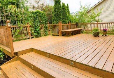 דק איפאה מדרגות לגינה