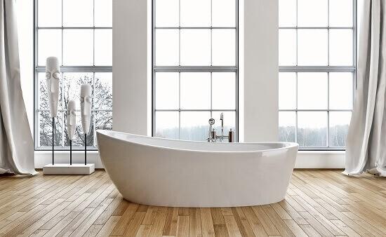 פרקט עץ טיק באמבטיה